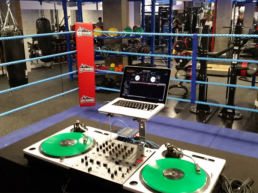 DJ Agency Set Up Gym Launch Event