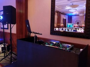DJ Booth Set Up