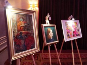 Auction Painting Display Charity Gala