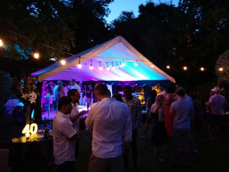 Summer Garden Outdoor Event Night