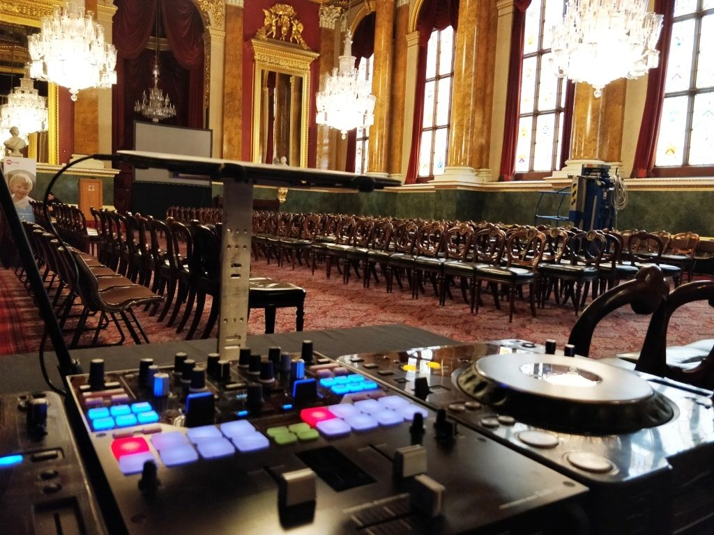 Goldsmiths Hall Fashion Show DJ Booth