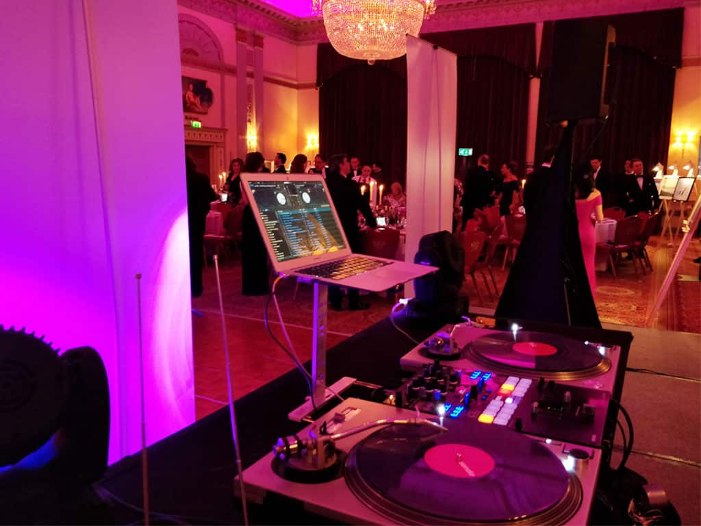 Turntable Set Up At Charity Event Plaisterers Hall