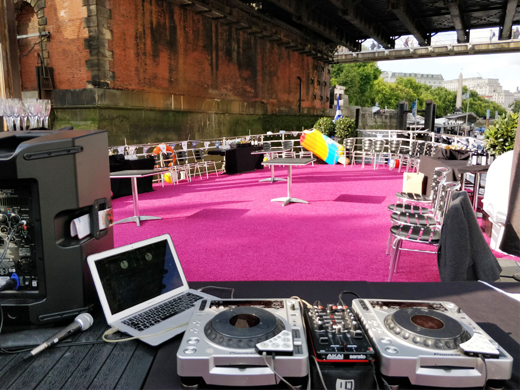 Outdoor Event DJ Set Up