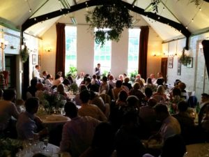 Barn Wedding Speech With Guests