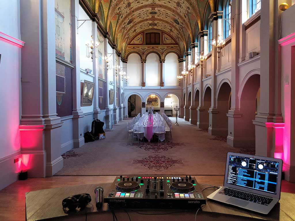 DJ Set Up In De Vere Chapel Room Windsor