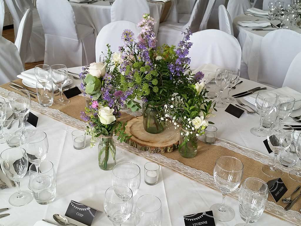 Event table seating arrangement crockery