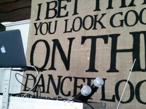 Barn Wedding DJ Decor