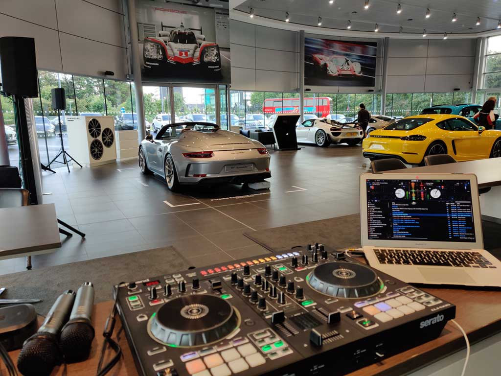 DJ hire Porsche Event London