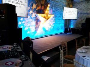 Staging TVs decor at MC Motors