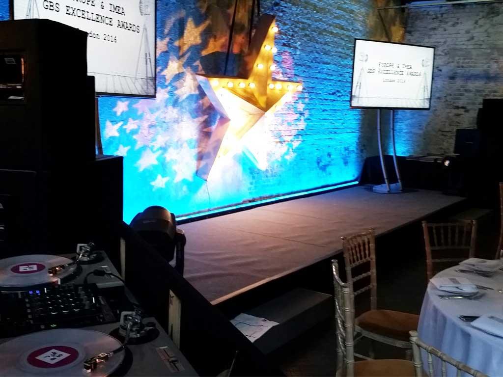 Staging TVs decor at P&G Gala Awards