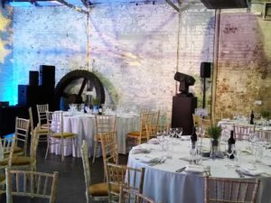 Lighting and tables P&G gala awards