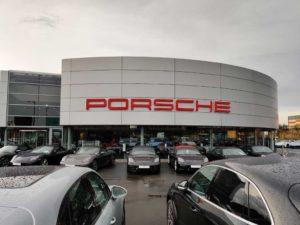 Porsche Event Outside East London