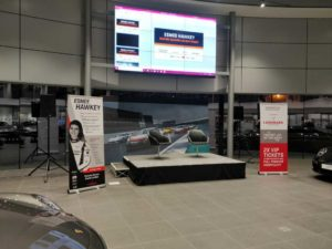 Porsche South London Garage Staging PA hire London