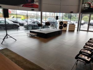 PA Speaker Stage Hire Porsche Event 2019