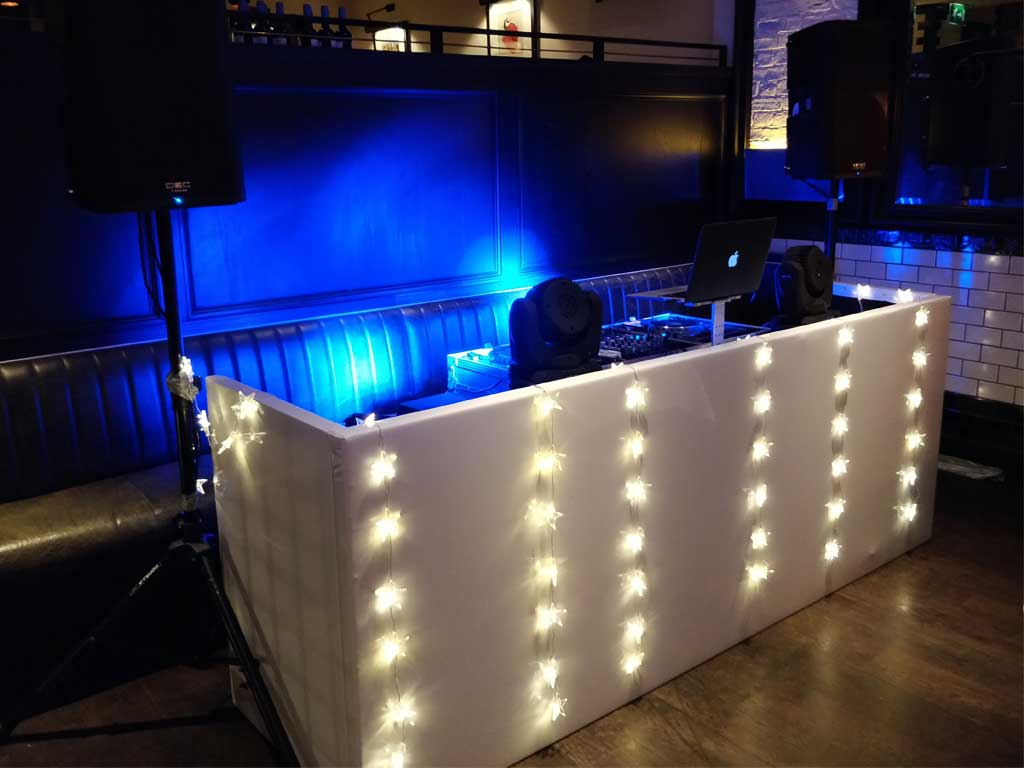Christmas Party DJ Set Booth