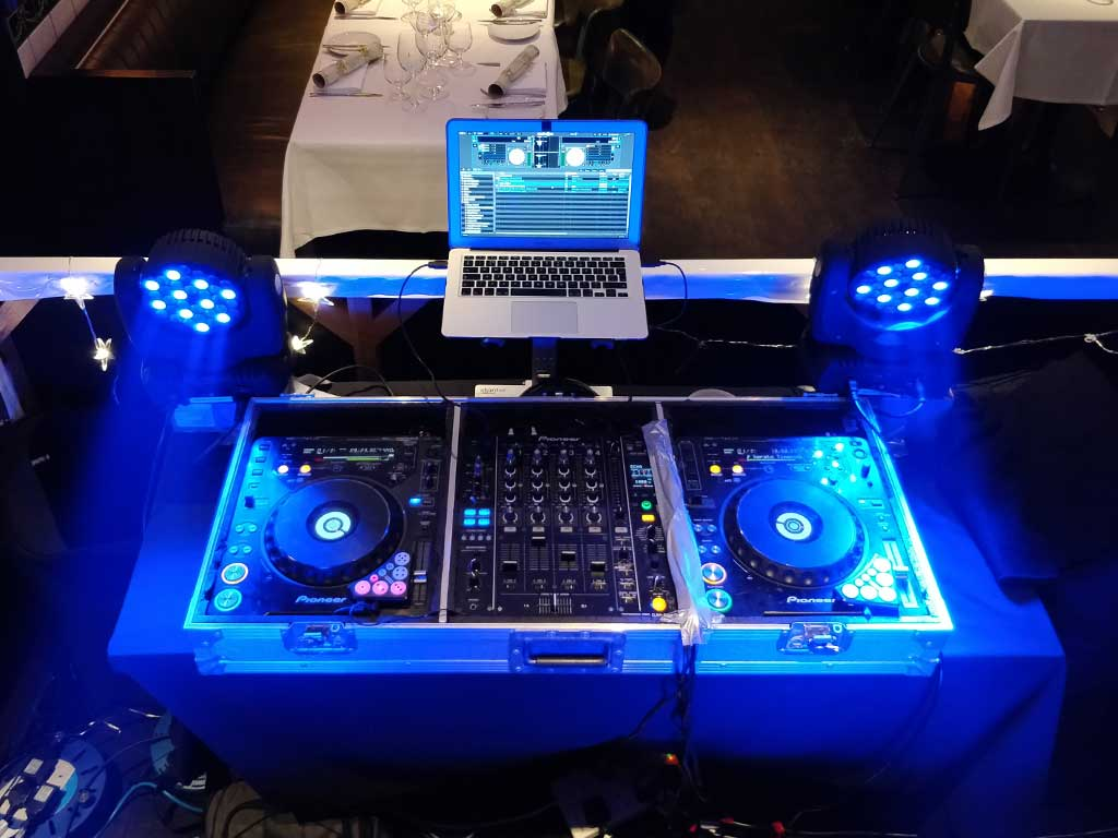 Christmas Party DJ Set Up Booth