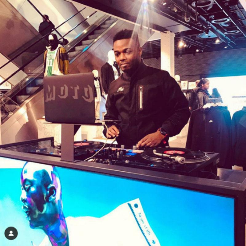 Professional DJ Moto London On Set