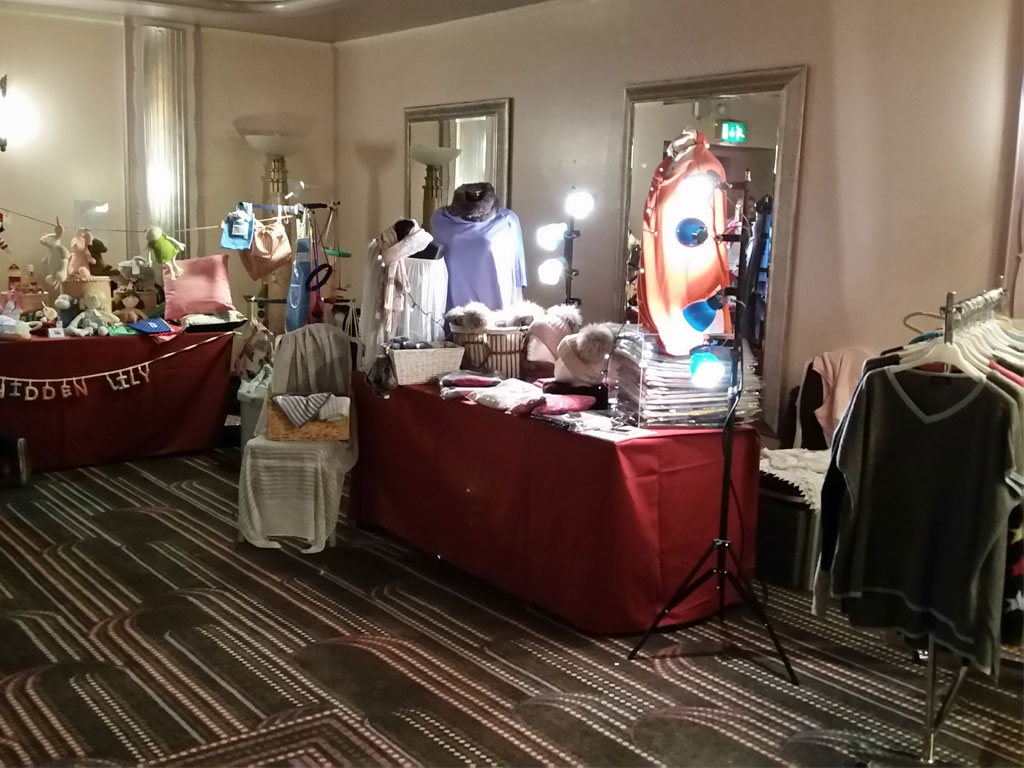 Sheraton Mencap Fashion Show Clothes Display