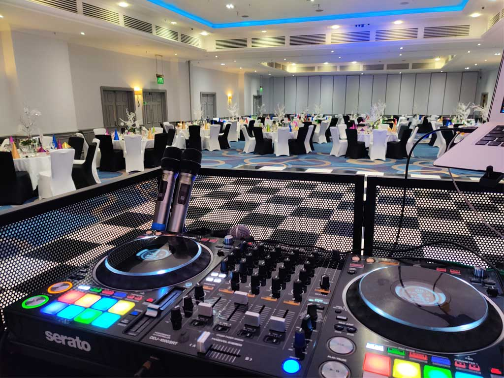 DJ Pioneer Controller & Booth At Corporate event 2020