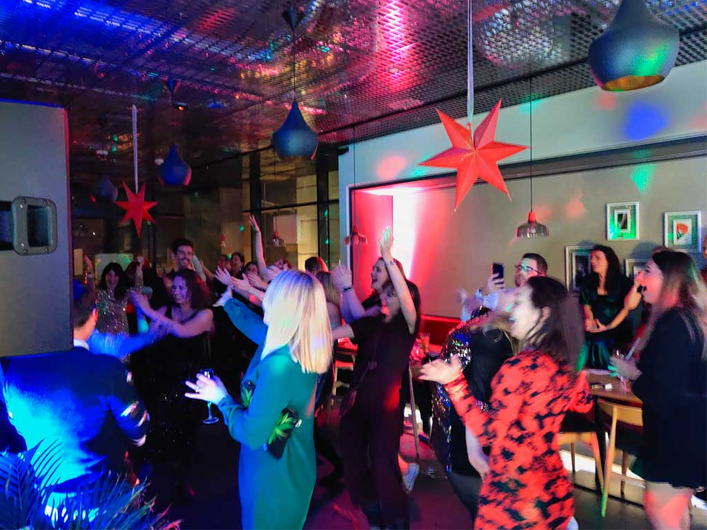 Guests christmas party DJ hire