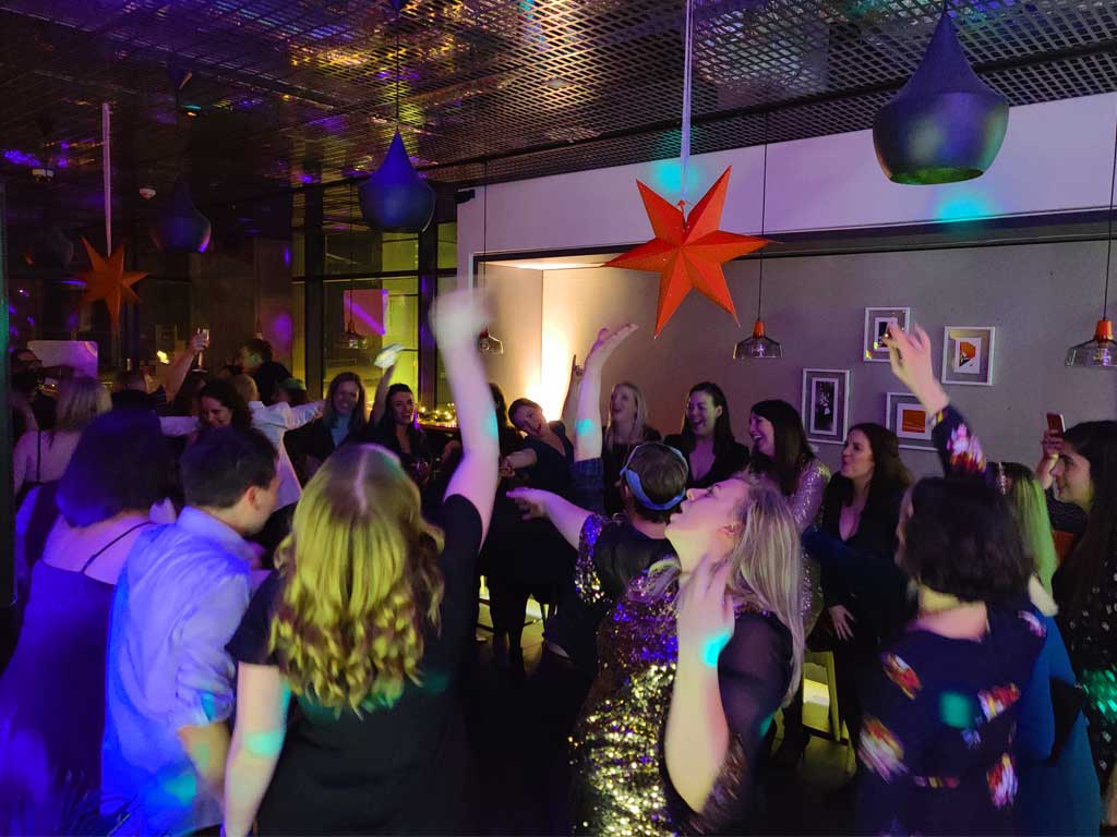 Christmas Party Disco hire guests