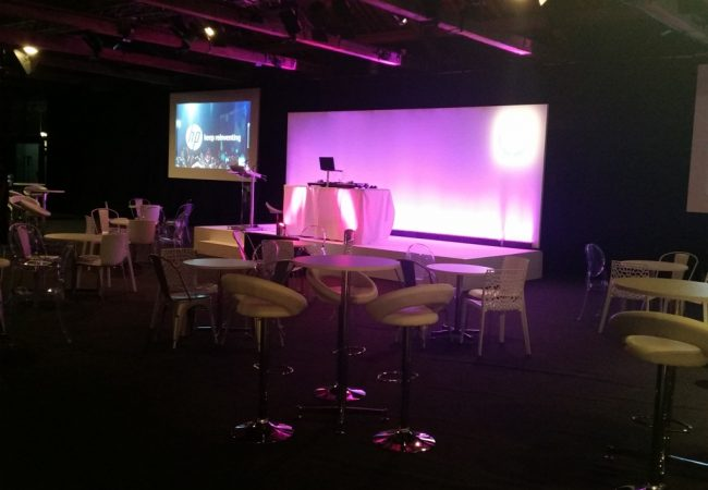 DJ Set Up Stage London HP Corporate event