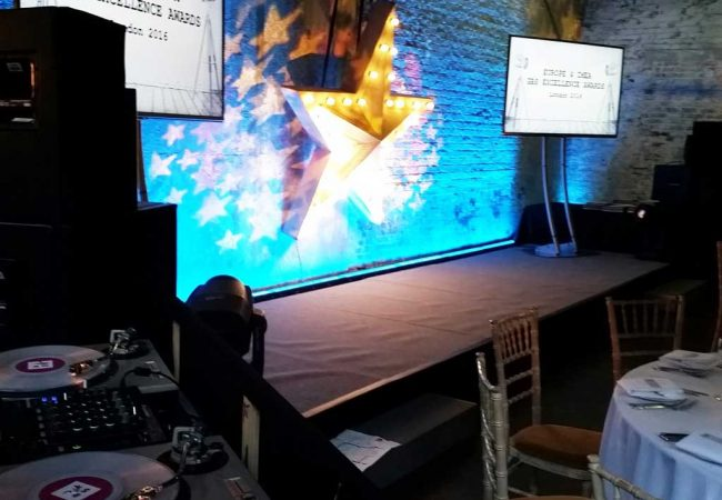Staging TVs decor at P&G Gala Awards