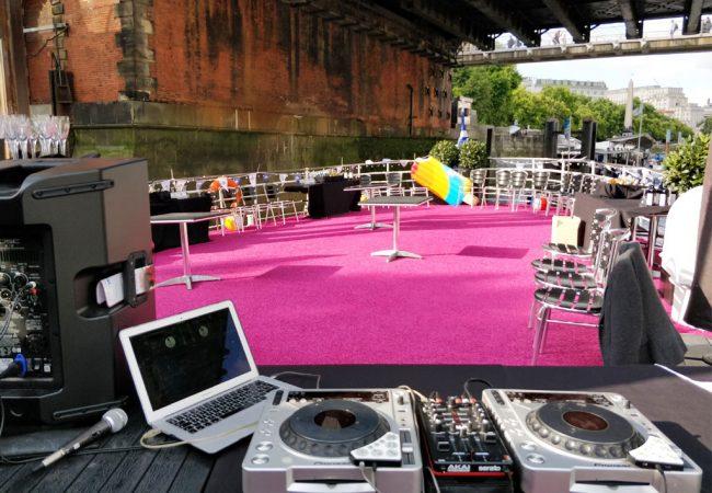 Outdoor Event DJ Set Up